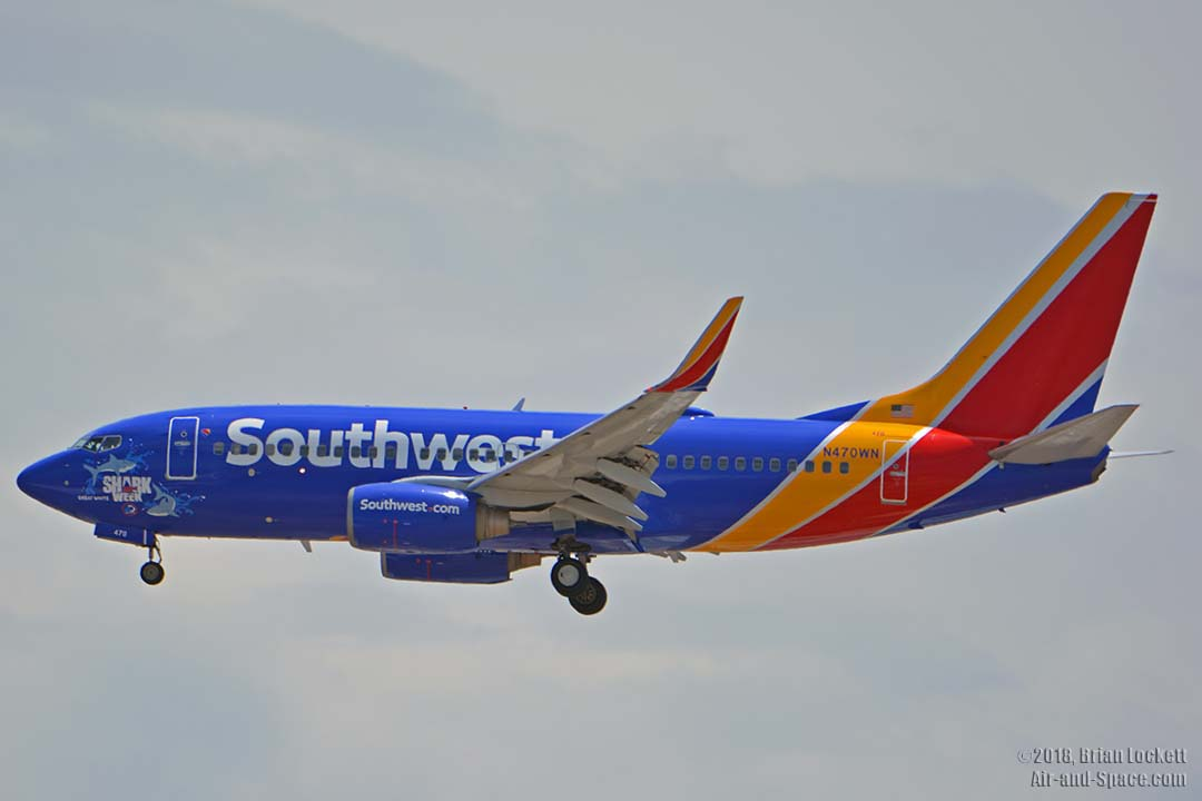 southwest shark week sweepstakes air and space com southwest shark week 737s at phoenix 7967