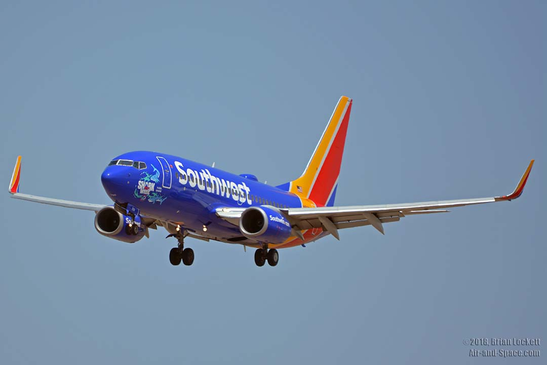 southwest shark week sweepstakes air and space com southwest shark week 737s at phoenix 3008